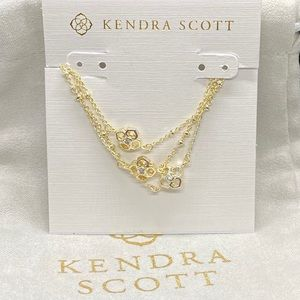New Kendra Scott Gold Rue Multi Strand Bracelet
